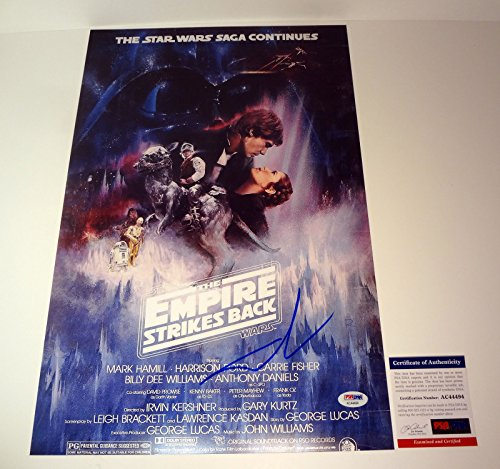 George Lucas Signed Autograph Star Wars The Empire Strikes Back Movie Poster PSA/DNA COA #2