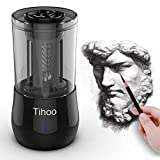 Tihoo Electric Professional Sketch Pencil Sharpener Automatic Fast Work, 3 Effects, Heavy Duty