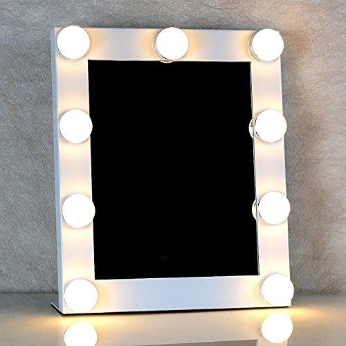 Led 9 bombillas vanity iluminado espejo de maquillaje - Espejos con bombillas ...
