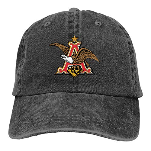 Budweiser Classic Baseball Caps Adjustable Hat Denim Fabric Black ()