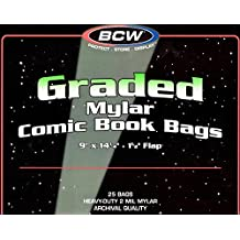 25 BCW Graded Mylar Comic Book Bags - Lasts Indefinitely by BCW