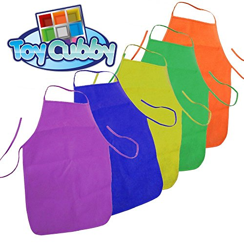 15 Pieces Middle Size Kids Painting Apron for Ages 5 to 10 Crafts and Art Painting Activity 15 Colours Classroom Community Event in Kitchen