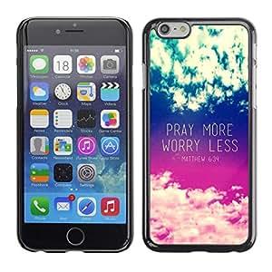Caucho caso de Shell duro de la cubierta de accesorios de protección BY RAYDREAMMM - Apple iPhone 6 Plus 5.5 - Worry Less Inspirational