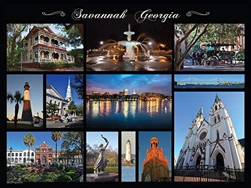 24 x 18 Finished Size 550 Pieces Heritage Puzzle Savannah Collage by Peter Doran