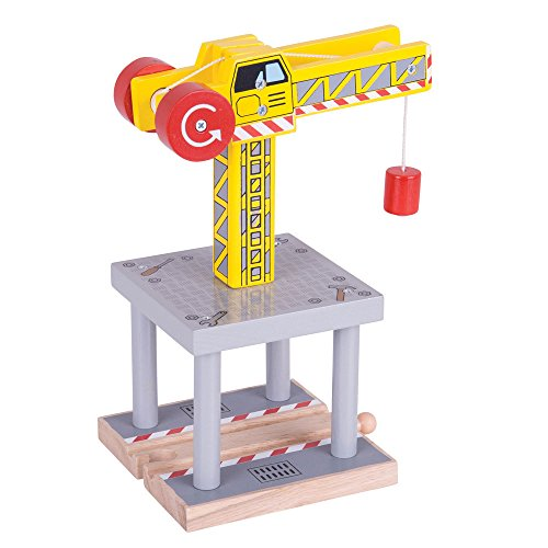 (Bigjigs Rail Magnetic Big Yellow Crane - Other Major Wooden Rail Brands are Compatible)