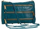 Rebecca Minkoff Five-Zip Clutch,Teal,one size