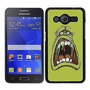 Funda carcasa para Samsung Galaxy Core 2 diseño dibujo cazafantasmas borde negro