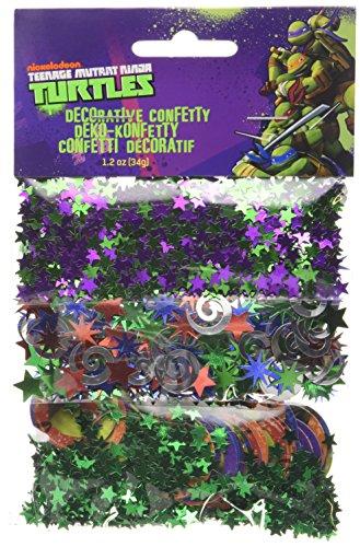 Ninja Turtle Table Decorations (Amscan Teenage Mutant Ninja Turtle 3-Confetti)