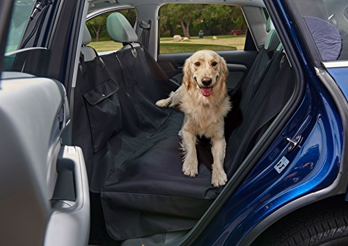 Dog Seat Cover Pet Seat Cover Car Seat Cover for Dogs by WAG MAT-100% Waterproof Deluxe Heavy Duty Sturdy Canvas | Hammock Design Quick Easy Installation for Cars, SUV Trucks (Dog Canvas Mat)