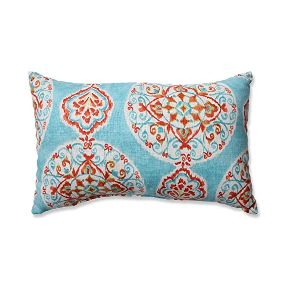 Pillow Perfect Rectangular Throw Pillow, Mirage Medallion - Includes one (1) decorative throw pillow; suitable for indoor use Plush Fill - 100-percent polyester fiber filling Edges of decorative pillow are knife edge - living-room-soft-furnishings, living-room, decorative-pillows - 51EsPL8hu3L. SS570  -