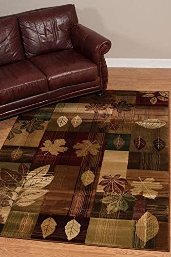 United Weavers of America Contours Cem Autumn Bliss Area Rug – 2ft. 7in. x 7ft. 6in., Multicolor, Jute Backing Rug with Natural Geometric Pattern