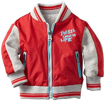 Diesel Baby-Boys Infant Joptyb Nylon Reversible Zip Jacket, Red, 3 Months