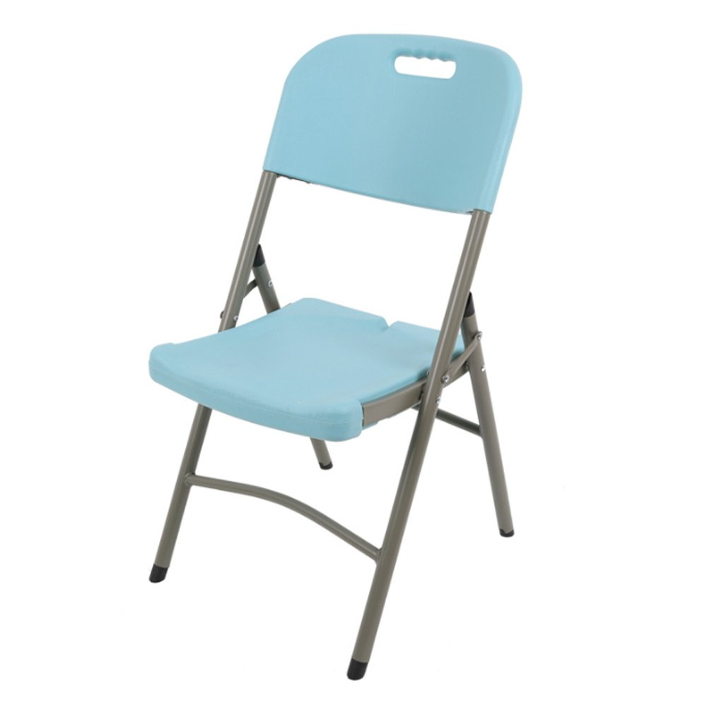 Sky bluee 454388CM Folding Chairs Home Dining Chairs Leisure Chairs Training Chairs Conference Chairs Portable Chairs Stools (color   Creamy-White, Size   45  43  88CM)