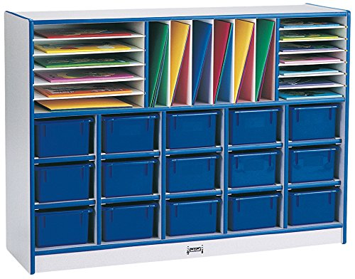 Rainbow Accents 0416JCWW003 Sectional Cubbie-Tray Mobile Unit with Trays, ()