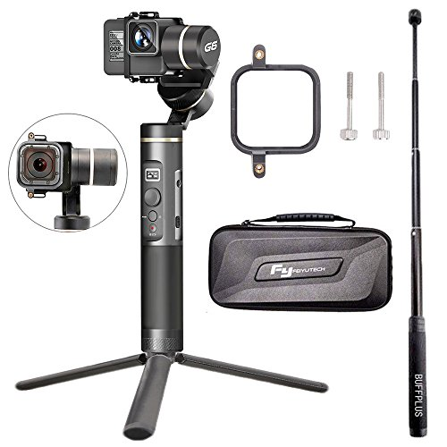 Feiyu G6 3-Axis Splash Proof Handheld Gimbal for GoPro Hero 6/5/4/3/Session, Sony RX0, Yi Cam 4K, AEE Action Cameras and Other Similar-Sized Action Cameras (Tripod and Extension Pole Included) (G6) from Feiyu