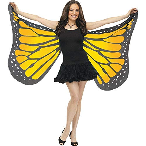 Monarch Butterfly Costume Adult - Fun World Women's Soft Butterfly Wings