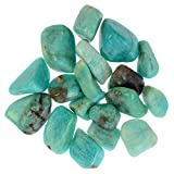 Digging Dolls: 1 lb Tumbled Amazonite Stones from Madagascar - 0.75'' to 1.50'' Avg. - Exceptional Quality Rocks for Crafts, Art, Crystal Healing, Wicca, Reiki and More!