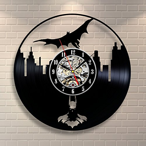 Batman Movie Vinyl Record Clock Home Design Room Art Decor Handmade Vintage
