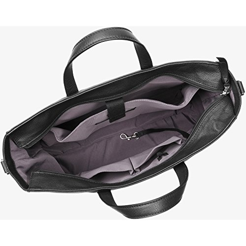 Bree Cary 14, Black, Business Bag L - Borse a spalla Donna, Schwarz (Black), 11x30x37 cm (B x H T)
