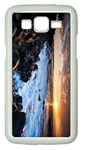 online covershawaii coast sunset PC White case/cover for Samsung Galaxy Grand 2/7106