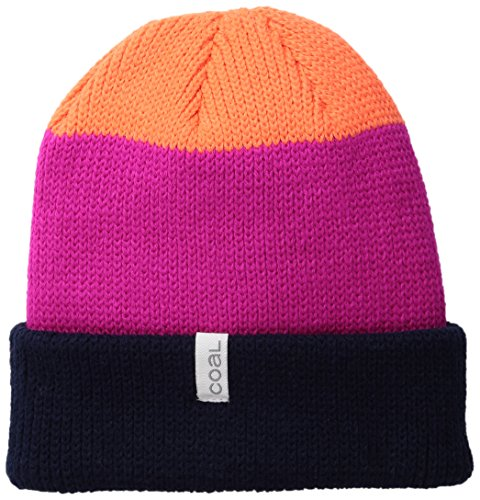 (Coal Men's The Frena Solid Fine Knit Beanie Hat, Navy, One)
