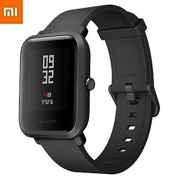 Xiaomi Amazfit Bip Smartwatch Reloj Inteligente Deportivo con GPS Bluetooth Pantalla Táctil Monitor de Ritmo Cardíaco Versión en Inglés Negro: Amazon.es: ...