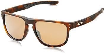 Oakley Herren Sonnenbrille Holbrook R 937706, Braun (Matte Dark Brown Tortoise/Prizmtungstenpolarized), 55