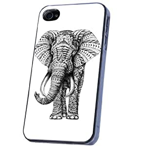 Cellbell Official License iphone 4 4S aztec Ornate Full elephant Fashion Trend Design Case/Back cover Metal and Hard Plastic Case