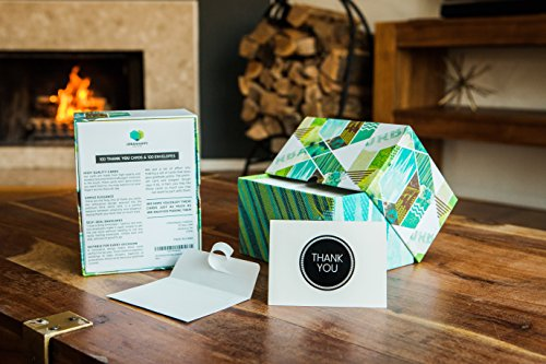100 Thank You Cards with Self-Seal Envelopes. From weddings to baby showers, clients to teachers, birthdays to graduations, this unique thank you notes bulk box set has your gratitude covered.