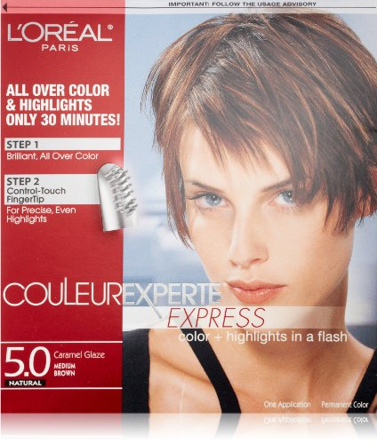 L'Oréal Paris Couleur Experte Hair Color + Hair Highlights, Medium Brown - Caramel Glaze Caramel Glaze