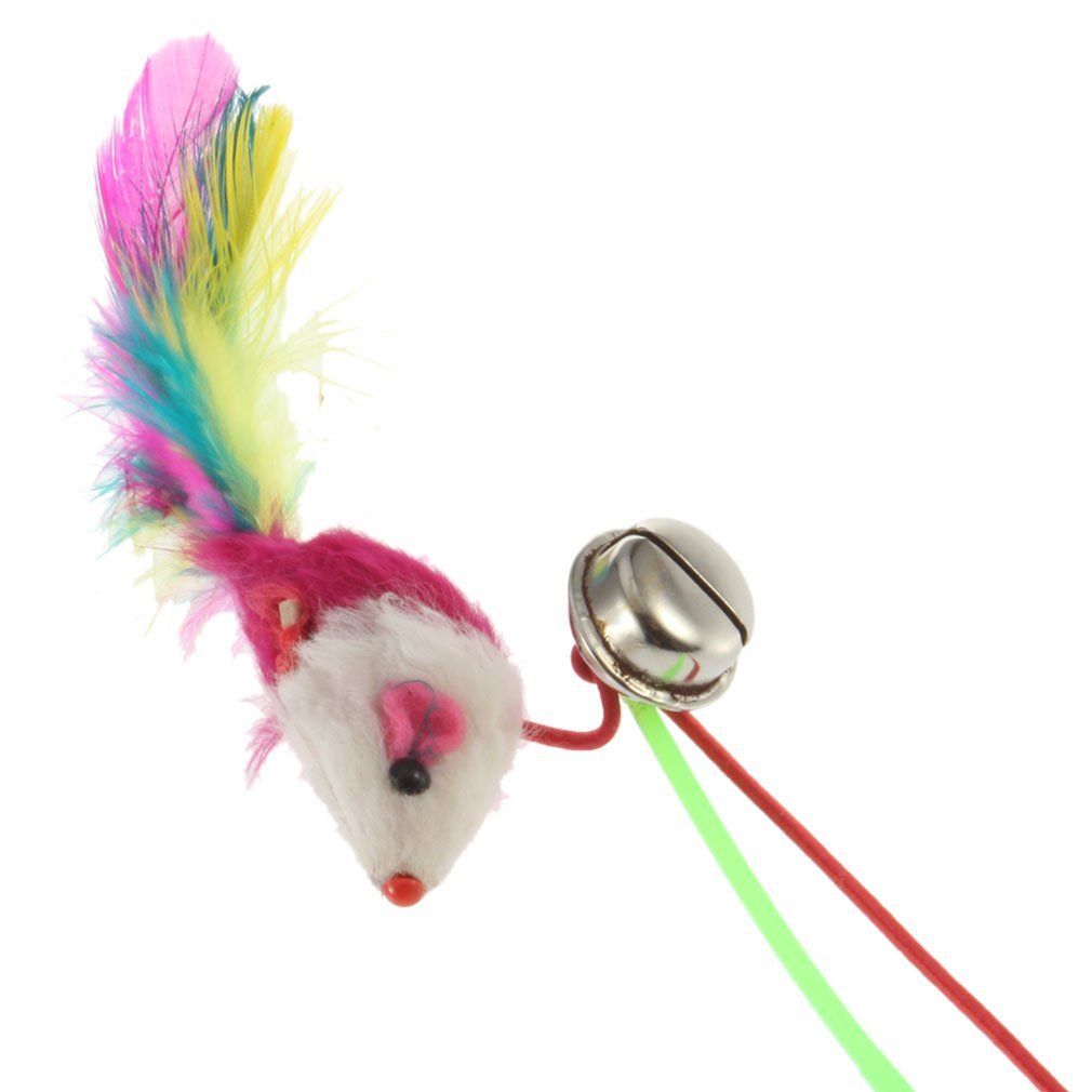 Amazon.com: SODIAL(R) For Pet Cat Bell The Dangle Faux Mouse Rod Roped Funny Fun Play Playing Toy: Toys & Games