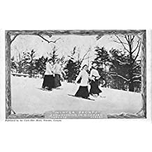 Winter Sports, Snowshoeing in High Park Toronto, Canada Old Vintage Postcard Post Card