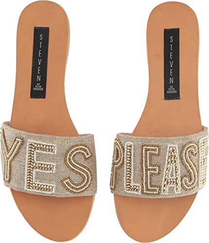 - STEVEN by Steve Madden Women's NADA Slide Sandal Natural 8 M US