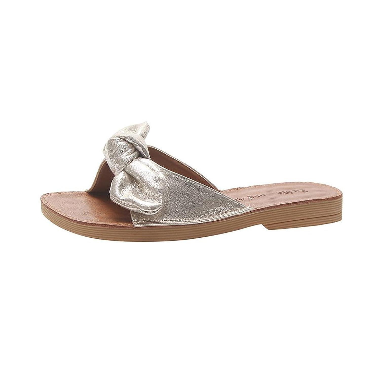 481a2150c7ad Wedge para mujer Inkach Sandalias de moda Summer Chunky Heeled Sandalias de  cuña tanga Pantuflas Chanclas Zapatos de playa Plata