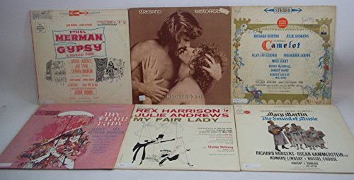 Camelot Vinyl - Musical/Movie Soundtrack Lot of 6 Vinyl Record Albums My Fair Lady, Camelot and more
