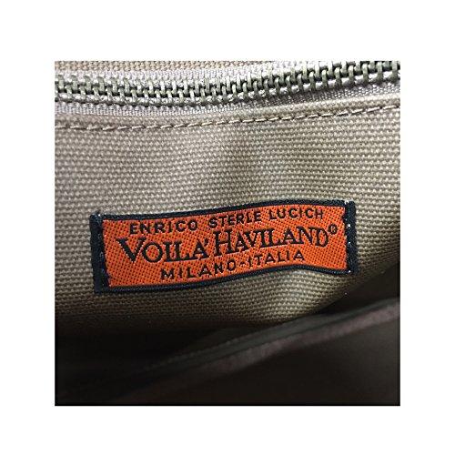 hombre VOILA' de bolsa encerado algodón mod HAVILAND pulidor CARTERA MILANO de RwxIwUfn4q