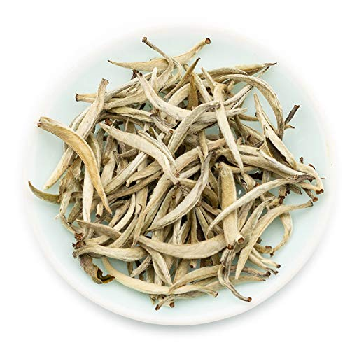 Oriarm 250g / 8.82oz Imperial Yunnan Silver Needle Tea - Bai Hao Yin Zhen White Tea Loose Leaf - Caffeine Level Low - Naturally High Mountain Grown