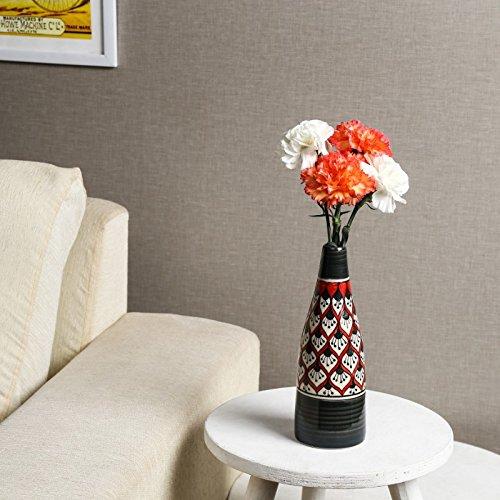 Unravel India ceramic multicolored bottle vase by Unravel India (Image #3)