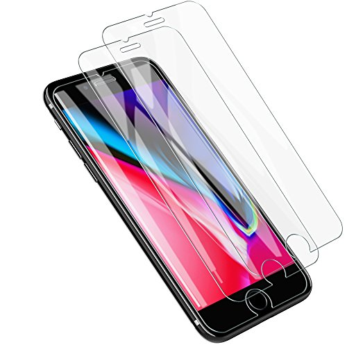 LK [3 Pack] Screen Protector for iPhone 8 / iPhone 7 / iPhone 6, [Tempered Glass] with Lifetime Replacement Warranty