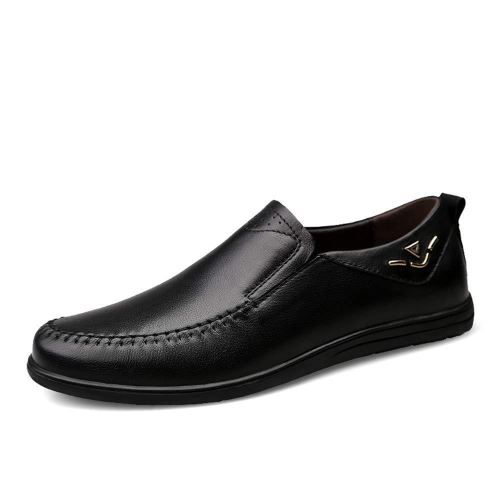 2018 Mens schuhe, Herrenmode Oxfords Schuhe, Breathable Flat Flat Breathable Heel Schnürschuh Soft Cowhide Solid Farbe Schuhe (Farbe   Schwarz, Größe   43 EU) 975ea2