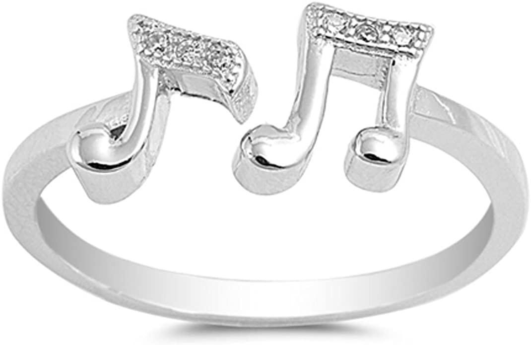 MUSIC NOTE Silver Ring-Music Note Ring-925 Sterling Silver