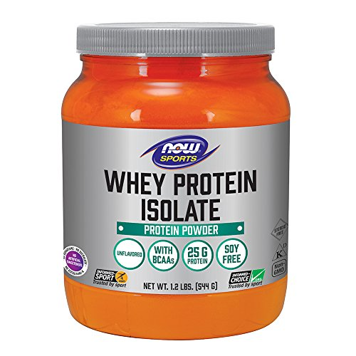 - NOW Sports Whey Protein Isolate Unflavored Powder,1.2-Pounds