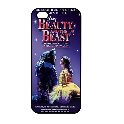 Coque,Custom Girly the Beauty And the Beast Cartoon Plastic Hard Case Covers for Coque iphone SE/Coque iphone 5/Coque iphone 5S