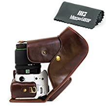 "MegaGear ""Ever Ready"" Protective Leather Camera Case, Bag for Pentax K-S2 Camera with 18-135mm Lens DSLR Camera (Dark Brown)"