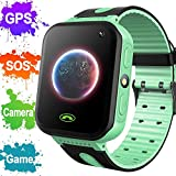2019 Upgrade Kids Smart Watch Phone GPS Tracker for Boys Girls Holiday Electronic Toy Gifts Smart Wrist Watch Phone with Camera Fitness Tracker Watch with Touch Screen Anti-Lost Wearable Phone Watch
