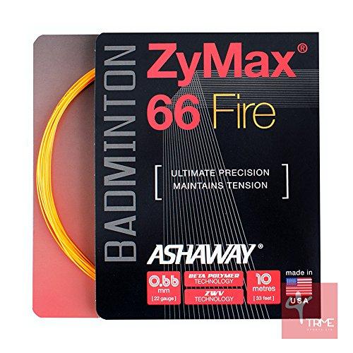 ASHAWAY zymaz 66Fire 0, 66mm Badminton Saite Set–Orange ASHAWAY zymaz 66Fire 0