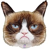"36"" Grumpy Cat Party Face Shape Birthday Mylar / Foil Balloon"