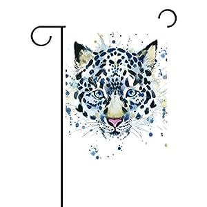 jstel casa Watercolor Tiger poliéster tela jardín banderas Lovely y resistente al moho Custom de resistente al agua 12x 18inch