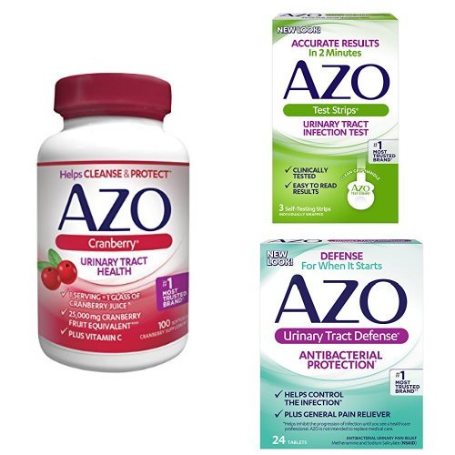 AZO Urinary Defense Pack | 3 Products to Test for a UTI, Help Control Your UTI Until You See a Doctor, and Cleanse + Protect the Urinary Tract*