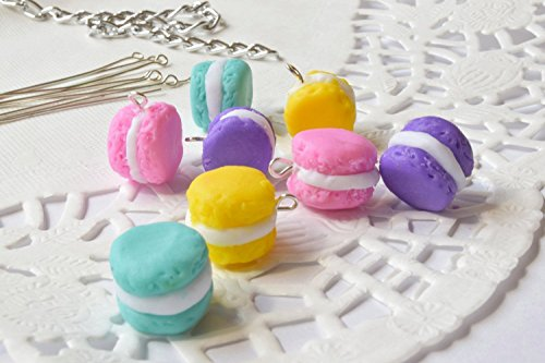 Clay macaroon beads 8 pcs miniature beads food bead polymer clay beads bead supplies jewelry making jewelry beading pastel colorful beads handmade beads food beads from KatrinHandmadeGifts